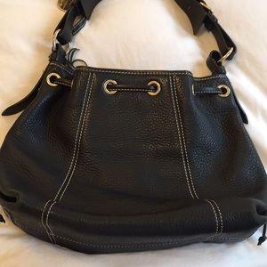 Dooney & Bourke Bags - Dooney & Bourke leather bucket bag w/ drawstring